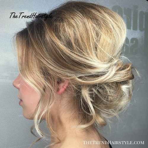 Updo With Fringe Bangs 60 Easy Updo Hairstyles For Medium Length Hair In 2019 The Trending Hairstyle