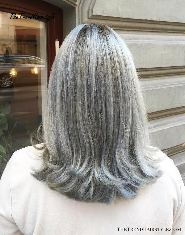 Gray and Layered - 60 Gorgeous Hairstyles for Gray Hair - The Trending Hairstyle