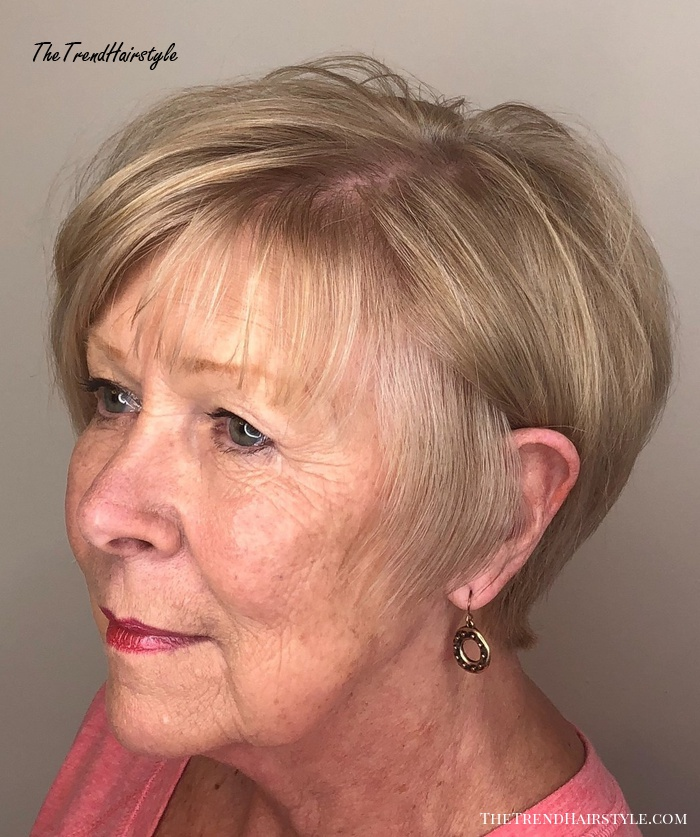 70+ Dirty Blonde Pixie Bob