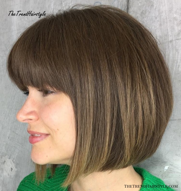 A-Line Bob With Bangs