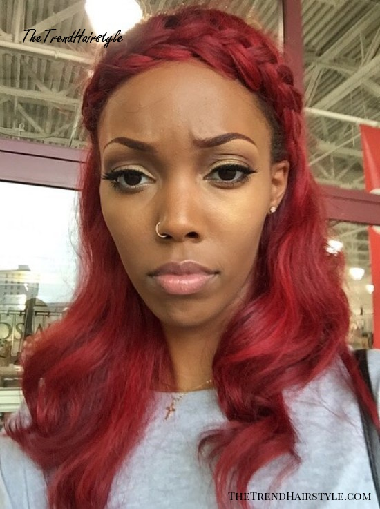 African American Cherry Red Hair