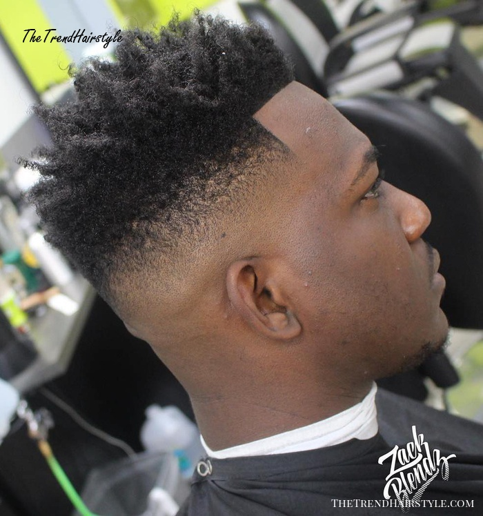 African American Natural High Fade