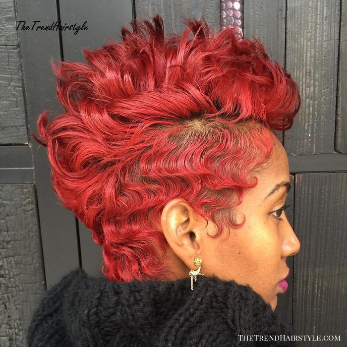 African American Spiky Red Pixie