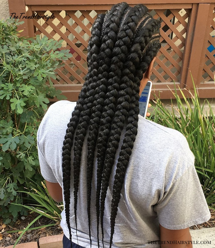 African American Thick And Thin Braids
