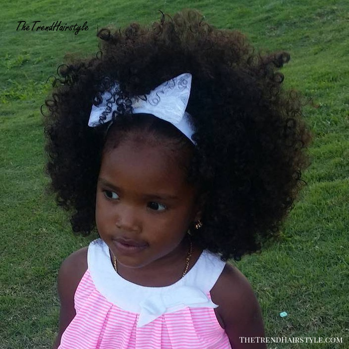 Afro Hairstyle For Little Black Girls