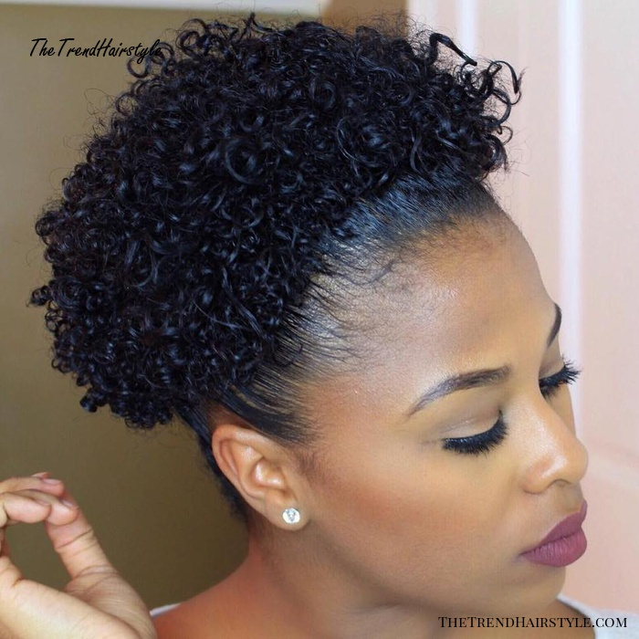 Afro Puff For Short Hair