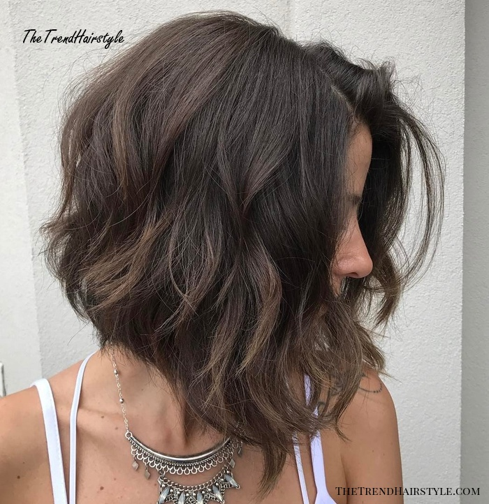 Angled Bob For Thick Wavy Hair