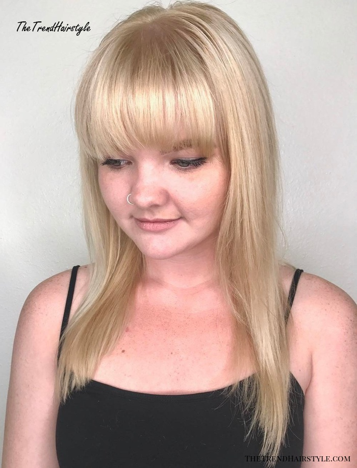 Arched Blunt Bangs