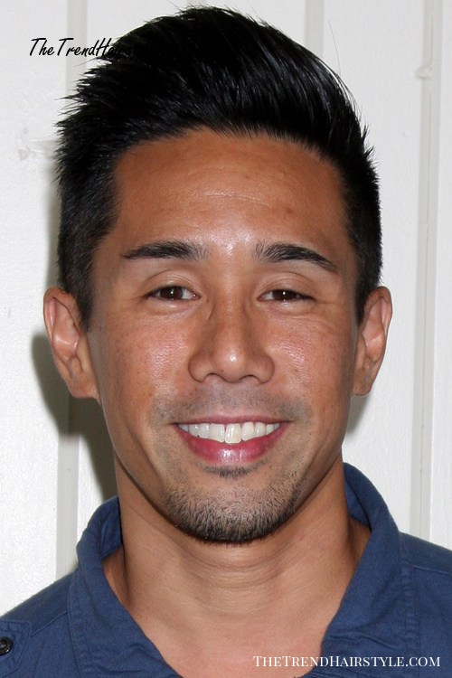 Asian men hairstyle with an added hight