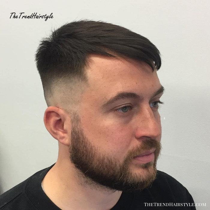 Bald Fade With Beard And Moustache