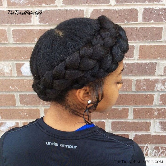 Black Braided Crown