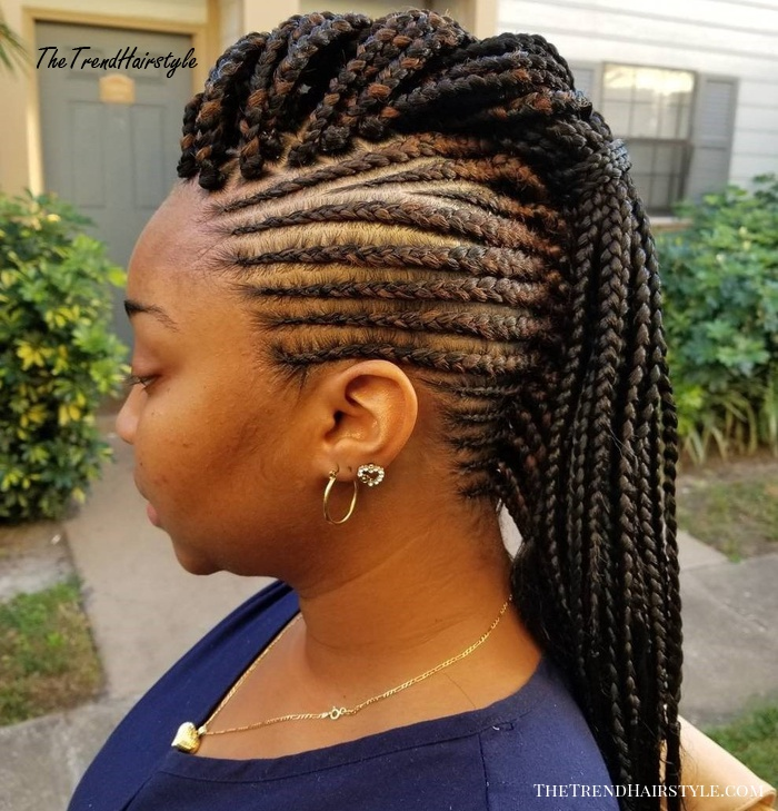 Black Braided Mohawk