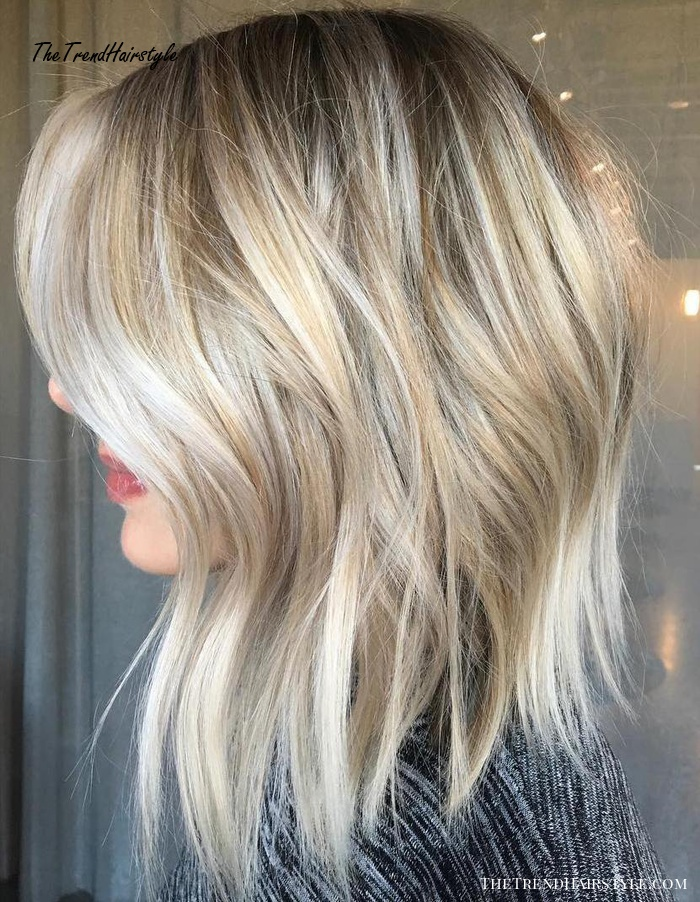 Blonde Balayage Bob With Textures Ends