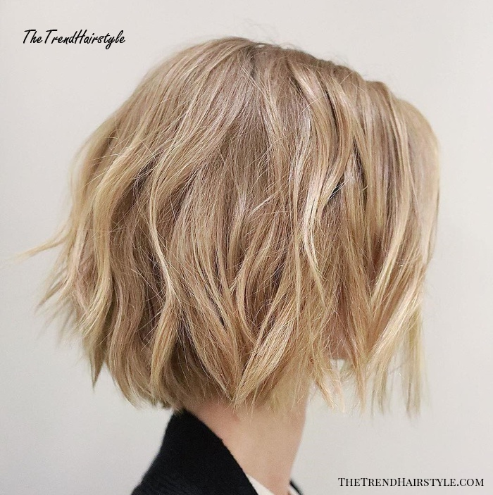 Messy bob cut large breasts Shaggy Medium Length Bob 60 Messy Bob Hairstyles For Your Trendy Casual Looks The Trending Hairstyle
