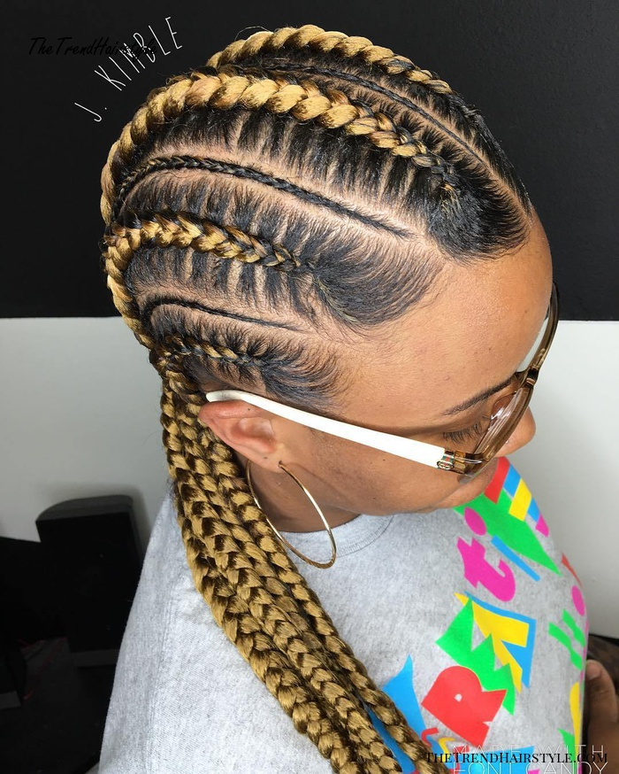 Blonde Cornrows For Black Hair