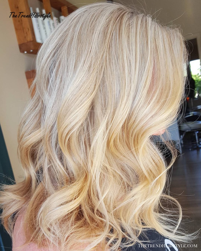 Blonde Hair With Gloss Smudging