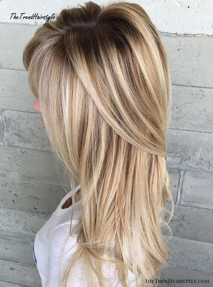 Blonde Hairstyle With Root Fade