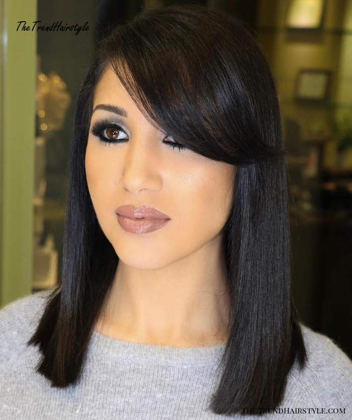 Tousled Lob With Messy Bangs 20 Modern Ways To Style A Long Bob With Bangs The Trending Hairstyle