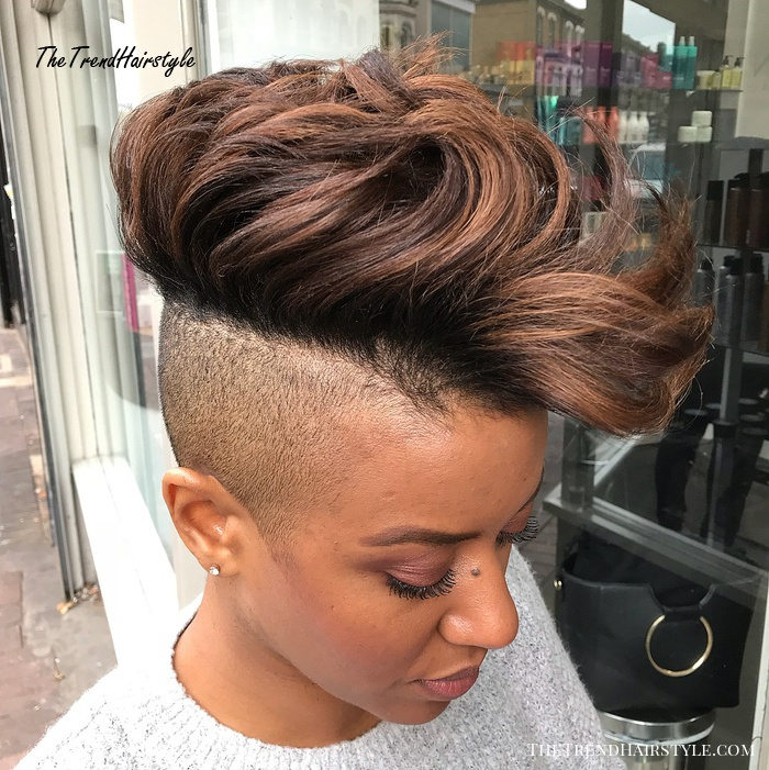 Bold Long Top Shaved Sides Hairstyle For Women 50 Most Captivating African American Short Hairstyles And Haircuts The Trending Hairstyle Page 22