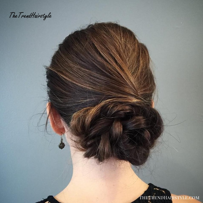 Loose Braid and Chignon - 30 Quick and Easy Updos for Long ...