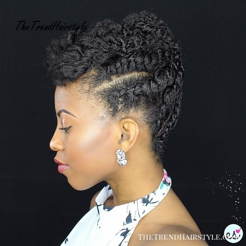 Braided Updo For Natural Hair