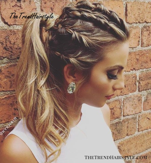 Braids And Ponytail Messy Hairstyle