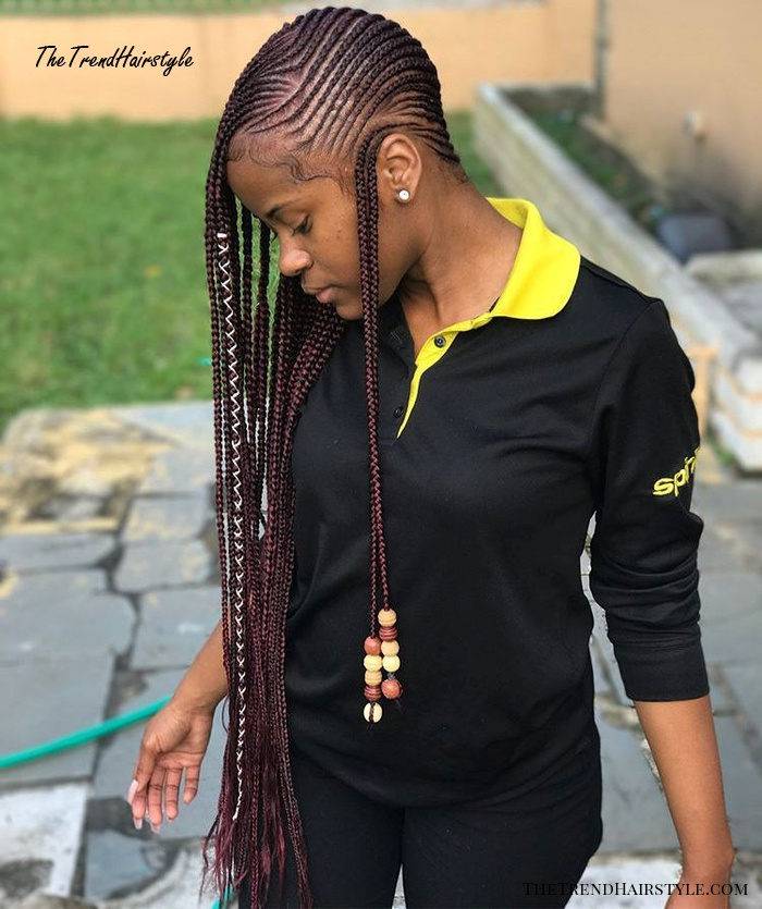 Braids with Beads And Wraps