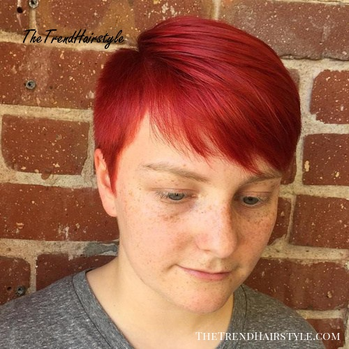 Bright Red Pixie