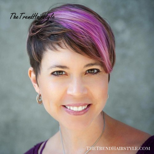 Brown And Purple Pixie