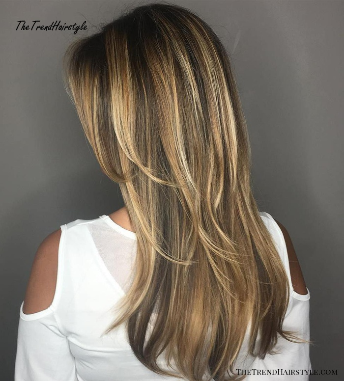 Brown Hair With Caramel And Blonde Highlights