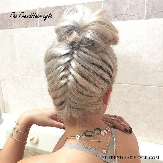 Braided Updo With Curls 20 Cute Upside Down French Braid Ideas The Trending Hairstyle