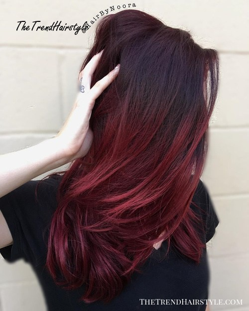 Red Hot Ombre 60 Best Ombre Hair Color Ideas For Blond Brown Red And Black Hair The Trending Hairstyle