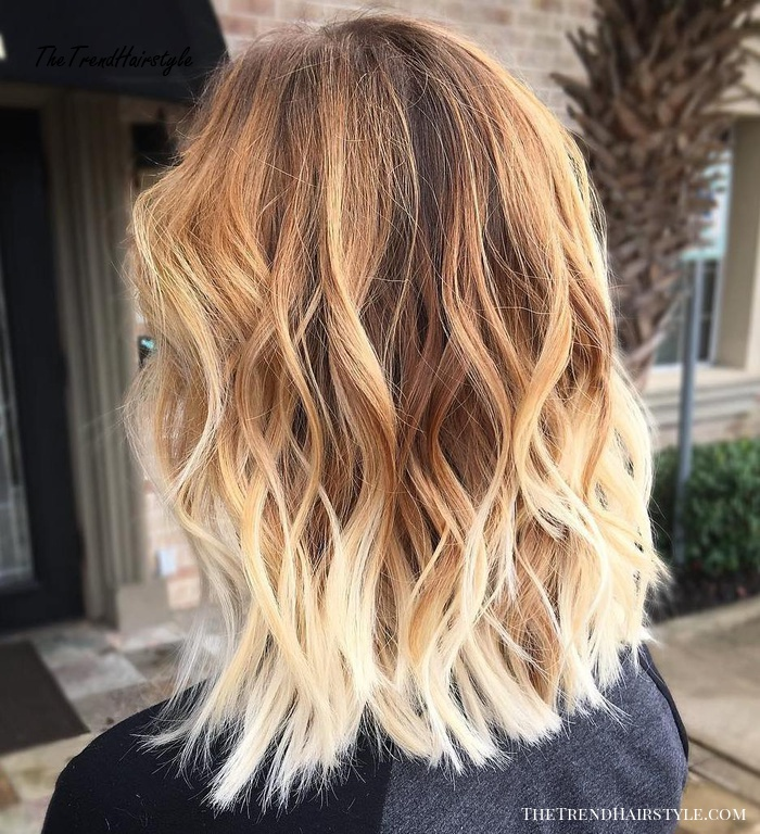 Caramel Brown Hair With Blonde Ombre