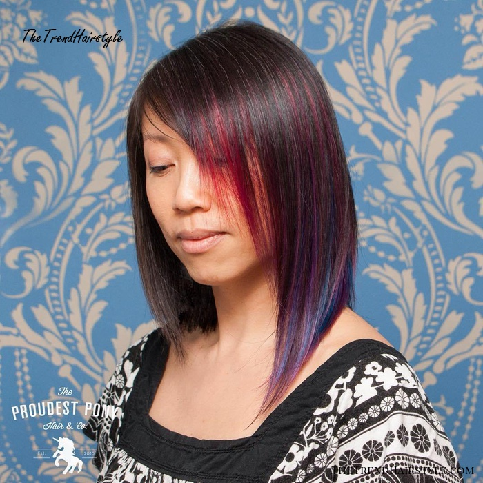 Cherry And Blue Peek-A-Boo Highlights