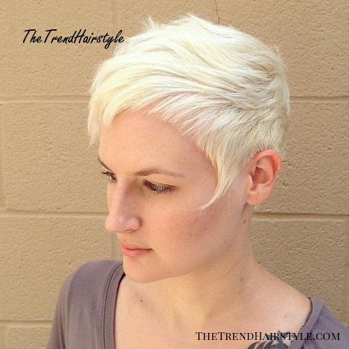 Choppy Blonde Pixie With Cropped Bangs