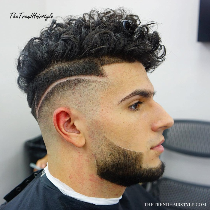Combover Fade For Curly Hair