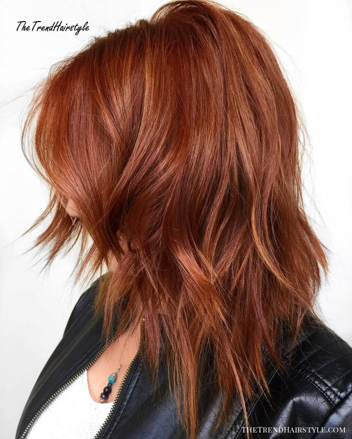 Copper Hair With Babylights