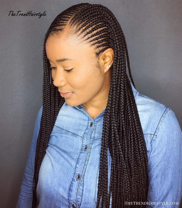 Cornrowed Box Braids