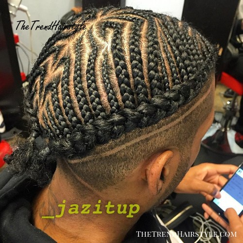 Cornrows, Crown Braid And Shaved Sides