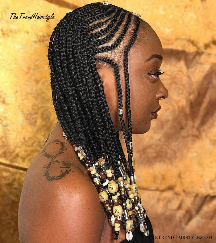 Creative Braided Hairstyle For Black Women