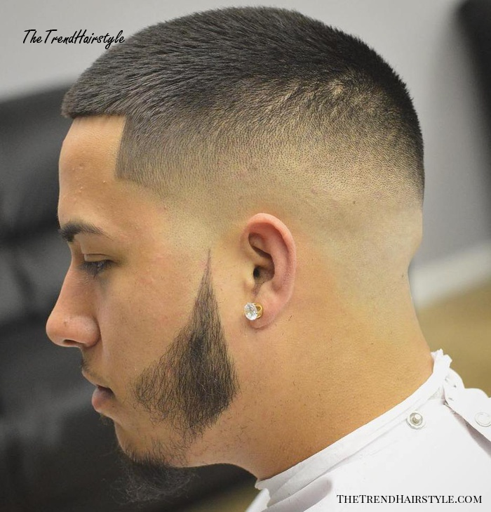 Crew Cut With Bald Fade