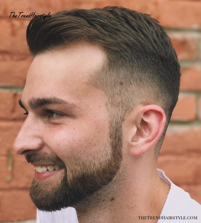 Crew Cut With Facial Hairstyle