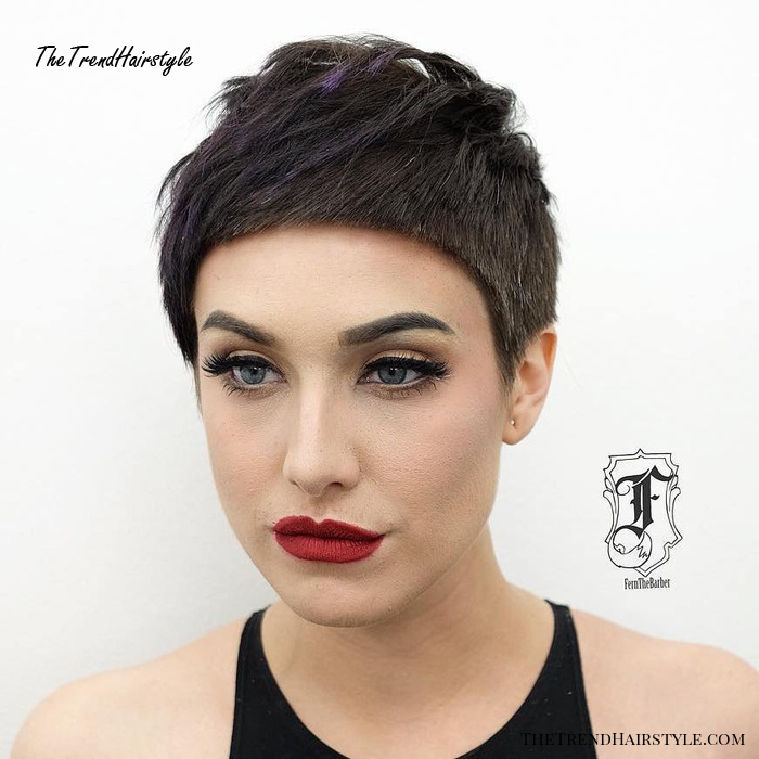 Cropped Brunette Pixie