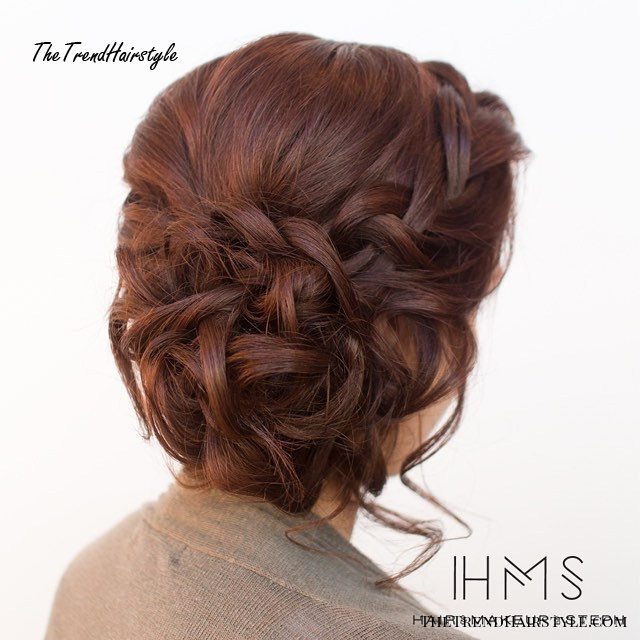 Curly Braided Updo