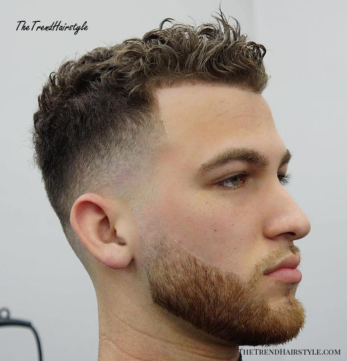 Curly Fade With Line Up