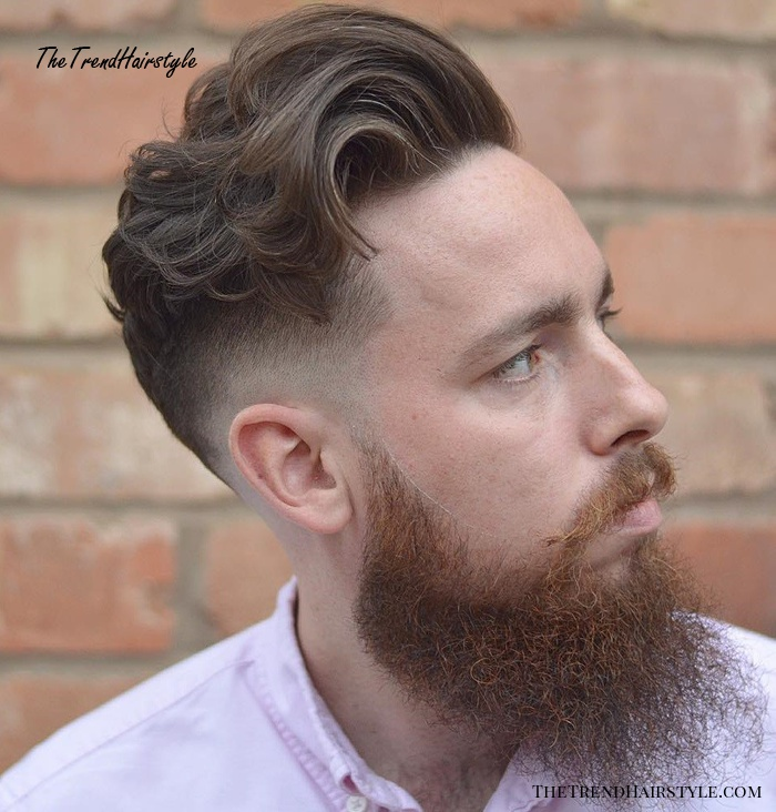 Curly Long Top Cut With Low Fade