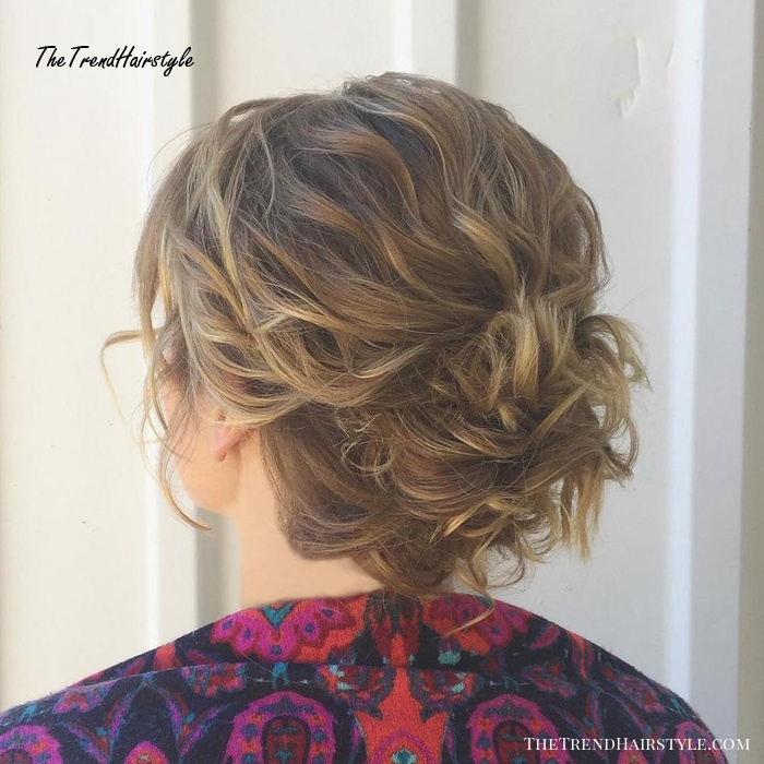 Curly Messy Pinned Updo