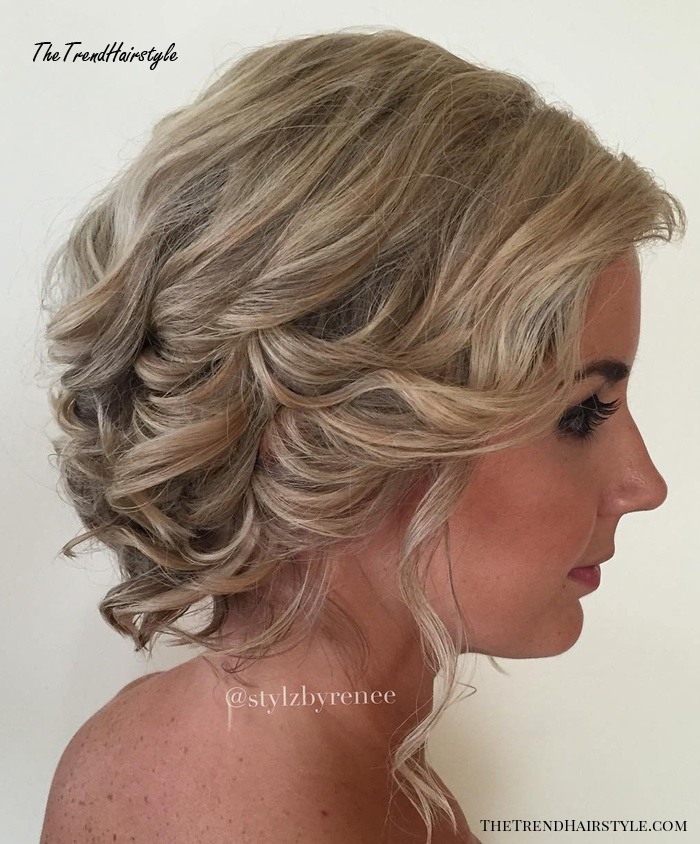 Curly Updo For Bob Length