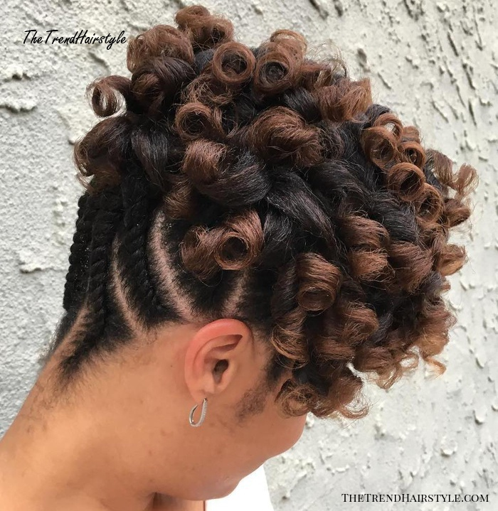 Curly Updo With Flat Twists Shorter Hair