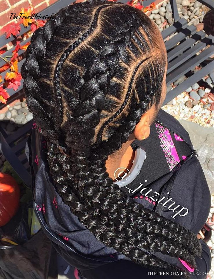 Curvy Thin And Thick Box Braids